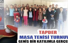 TAPDER Masa Tenisi Turnuvası Geniş Bir Katılımla Gerçekleşti